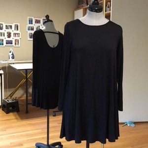 Black Tee Shirt Dress Small Excellent
